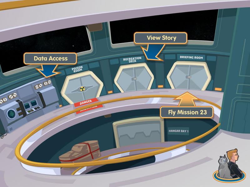 The main game hub